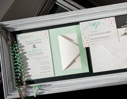 Custom Wedding Invitation Suite with Custom Calligraphy