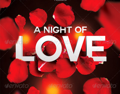 A Night of Love A5 Flyer Template PSD Template