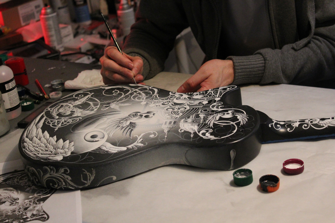 Joe Fenton Custom painted - Tremonti PRS Guitar + Film