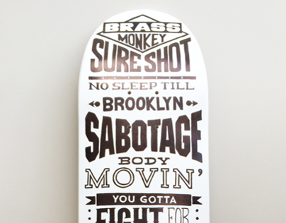 Beastie Boys tribute - skateboard