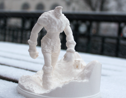 Mountain Giant: Sculpt & 3D Print