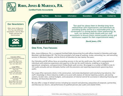 Ribis, Jones, & Maresca, P.A. - Website, Logo update