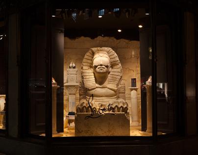 Louboutin display at Saks Fifth Ave, NYC