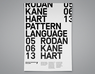 "Rodan Kane Hart ""Pattern Language"""