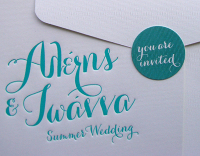 "Invitation / ""Mint Summer Wedding"""