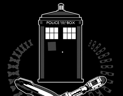 TARDIS & Screwdrivers tee at ZebraTees.com