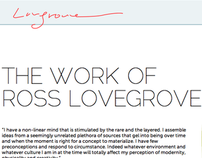 Ross Lovegrove Informational Website