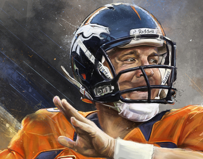 Peyton Manning - An Illustrated Print