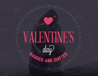 Valentine's Day Badges & Insignias