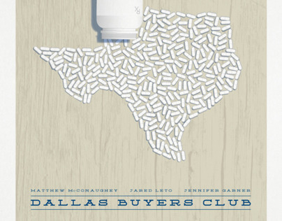 Dallas Buyers Club minimalist movie poster