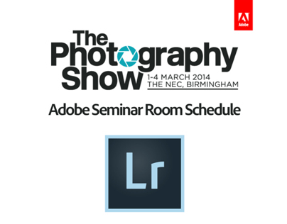 Photography Show 2014 Lightroom Studio Schedule
