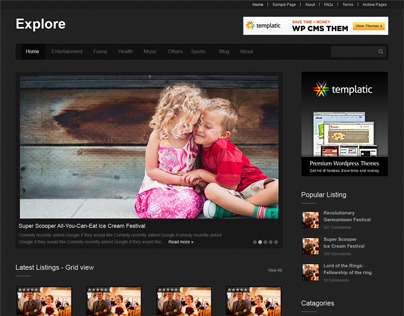 Explore - Directory WordPress Theme