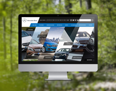 Mercedes Website Redesign.