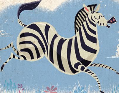 Zebra and Lion