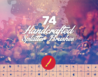 Handcrafted Photoshop Splatter Brushes by Layerform