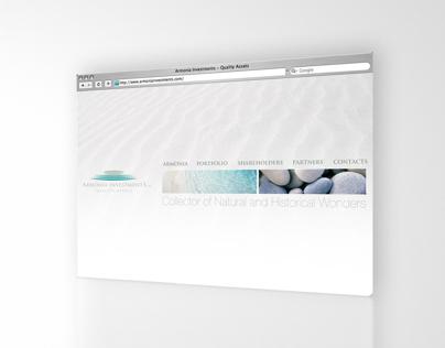 Website design for Armonia Investments