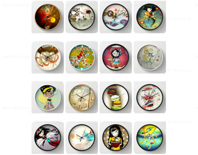 Wall Clocks by Rupydetequila