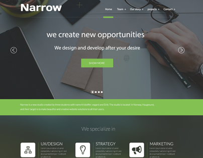Narrow - Web design