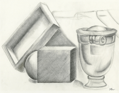 Still Life in Charcoal