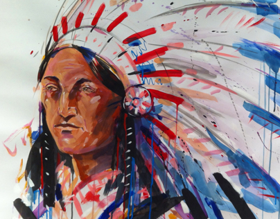 PAINTED HEADDRESS