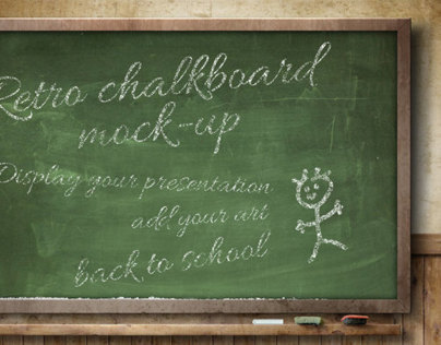 Retro ChalkBoard Mock-Up