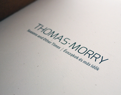 Thomas Morry poem book