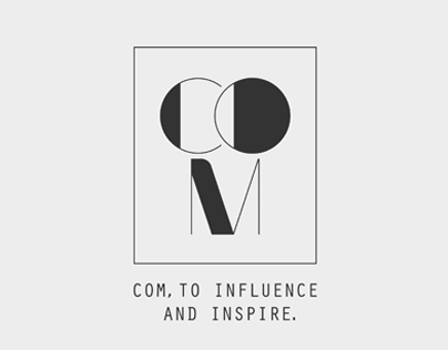 Logo // Com // To influence and inspire.