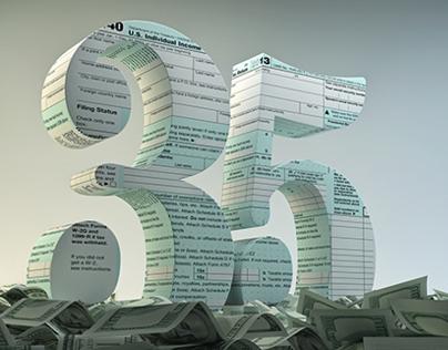 35 TAX BREAKS feature illustrations for Kiplingers