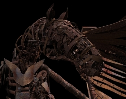 Mechanical Horse 3D Model