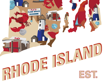 Rhode Island state poster
