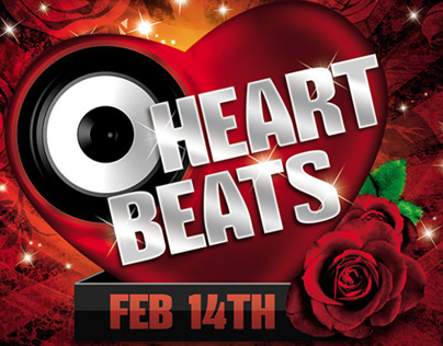 Heart Beats Party Flyer