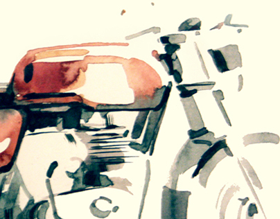 Watercolor- Continental GT