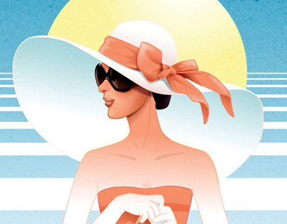 Lady with sun hat