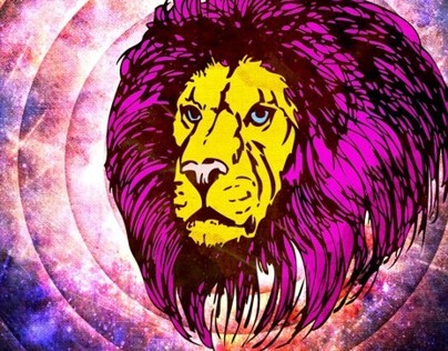 PoP Lion with Canvas Texture Poster and T Shirt