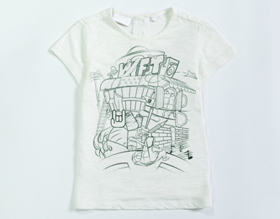 T-Shirt print design for NIFT