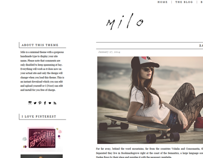 Milo WordPress Theme