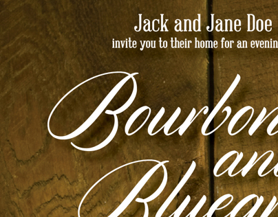 Bourbon and Bluegrass Fall Party Invitation