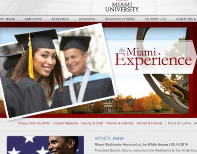 Miami University of Ohio Website Redesign