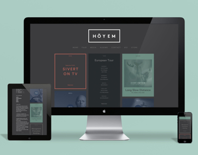 Sivert Høyem - Website and Visual Identity