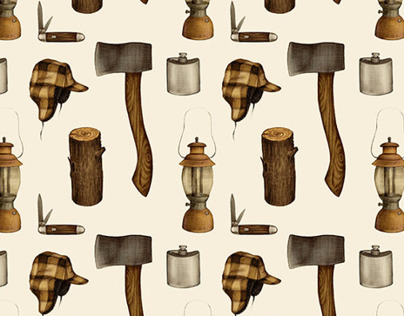 Woodsman Repeat Pattern