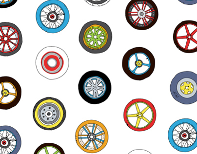 Wheels & Rims Pattern