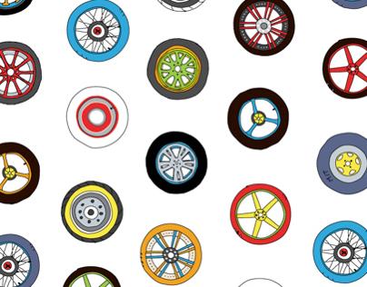 Wheels & Rims Pattern