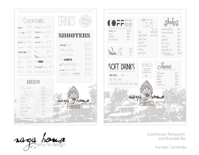 Naga House - Menu re-design