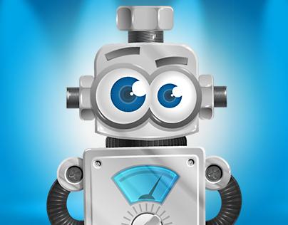 Vintage Robot Cartoon Character