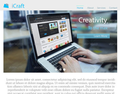 iCraft - Web Design inspiration