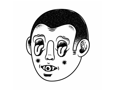 Crazy face illustration