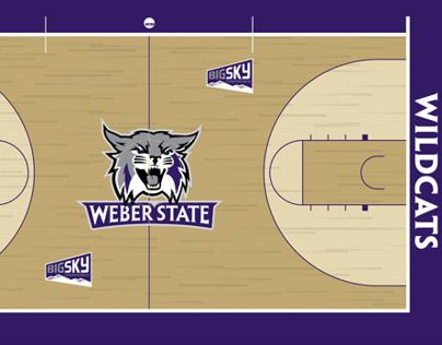 Weber State Basketball court