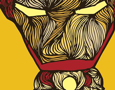 ironman doodle