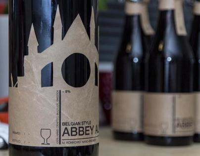 Craft Beer label design, Abbey Ale