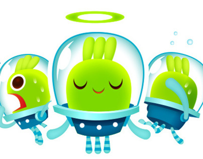 An Alien Sticker for Viber
